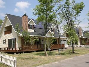 オールドアメリカンスタイルの住宅